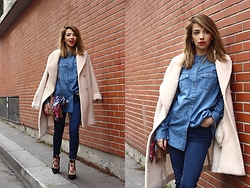 Clémentine Collinet - New Look Shirt, New Look Heels - DENIM