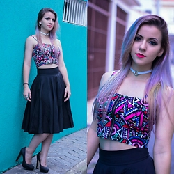 Nay Firens - Shein Skirt, Dressgal Cropped, Eh Tipo Audrey Choker - Party