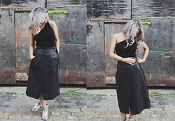 Joey Taylor - Whistles One Shoulder Top, Whistles Wrap Leather Skirt, Zara Ankle Boots - LEATHER WRAP SKIRT