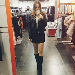 Marina Senina - Ostin Leather Jacket, Centro Boots - Early spring