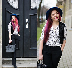 Adriana Delia Barar - Badstyle Vest, Orsay Pants, Choies Shirt, Missguided Hat, Michael Kors Bag - Boho-Business