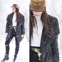 Whitney S. Williams - Vintage Combat Boots - Snowflakes