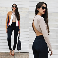 Maria Lucia Barrueta - Sheinside Color Block Jacket, True Addictions Crop Top, Wholesalebuying Jean - SexyBack