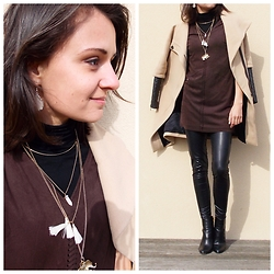 Anaïs Bon Cheap Bon Genre - Bershka Suedine Dress, Zara Jacket, H&M Boots - Rock'n'roll Pocahantas