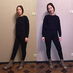 Olga T. - Uniqlo Sweater, Mango Boots - Home look
