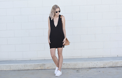 Madelene McGuinness - Backstage The Label Lbd, Adidas White Sneakers - The Weekender