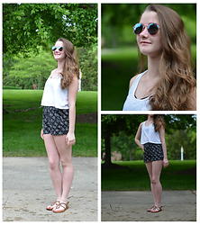 Laura -  - Sunglasses, crop, high waisted