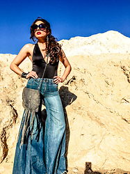 Arizona Danes - The Odd Portrait Leather Fringe Bag - Chic Boho Rocker