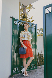 Tricia Gosingtian - Uniqlo And Lemaire Top, Uniqlo And Lemaire Skirt, Strathberry Bag, Charles And Keith Wedges - 030616
