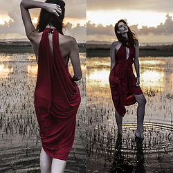 Elle-May Leckenby - Drape Evening Gown - Evening rain
