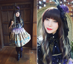 Tori - Alice And The Pirates Starlight Carnevale, Alice And The Pirates Starlight Carnevale Headdress, Angelic Pretty Princess Victoria Blouse, Alice And The Pirates Diamond Otks, Ellie Shoes Rebecca Lace, Angelic Pretty Quilted Heart Bag, Lockshop Wigs Mermaid Dust - Starlight Carnevale at the Museum