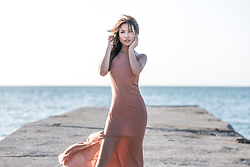Jessi Malay - None The Richer Ray Slip Dress In Cognac - From a dream