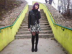 Karolina K - Vintage Diy Printed Skirt, Boots - Nothing Lasts Forever