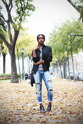 Muny B - Sheinside Jacket, Zara Jeans - NEW BLOG