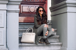 Stephanie Abu-Sbeih - Sacha Shoes, Boohoo Coat, Paul's Boutique Bag - Stairs