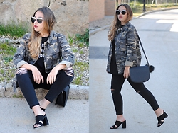 Claudia Villanueva - Newchic Sunglasses, Zara Jacket, Zara T Shirt, Mango Bag, Stradivarius Jeans, Asos Sandals - In Trend: Mule Sandals