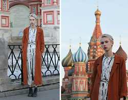 Egor Svetsky - Monki Shirt, Monki Trousers, Monki Coat, Dr. Martens Boots - RUSSIAN BIRCH / РУССКАЯ БЕРЁЗА
