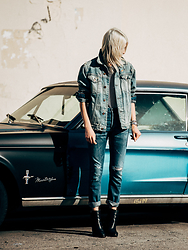 Rima Vaidila - Nsf Clothing Mens Denim Jacket, Citizens Of Humanity Boyfriend Jeans - Afternoon delight