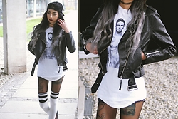 Katarzyna Klara Zaród - H&M Jacket, Urban Classics Over Knee Socks - Adam Levine Shirt