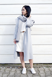 Kat I. - The Sept Scarf, Cluse Watch, Jessica Buurman Coat, The Fifth Top, The Fifth Shorts, Zara Shoes - Mf/031416