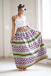 Melody Jacob - Melody Jacobs Maxi Skirt - REASONS TO OWN AN AFRICAN PRINT