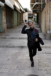 Gio' Mori - Marc By Jacobs Sunglasses, Versace Hand Painted Shirt, Costume National Jacket, Calvin Klein Belt, Federico Boschetto Pants, Valentino Sneakers - Jerusalem, Israel