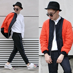 StreetFashion101 - Choies Bomber, H&M Sweater, Zara Pants, Adidas Zxflux - Splatter