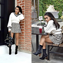 Daphne Blunt - Carven Skirt, Vintage Sweater, Public Desire Booties, Balenciaga Bag - Seeing Spots For Spring