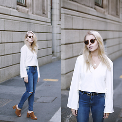 Amy S -  - Blue Jeans, White Shirt