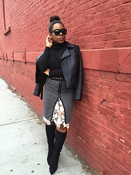 Christian Riley - Forever 21 Faux Leather Jacket, H&M Turtleneck, Bcbgeneration Boots - Hidden Beauty