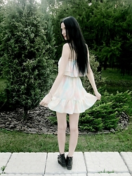 Natala An - A.K Dress, Yru Shoes - Pastel dress