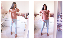 Sophie Medina - Zara Top, Casio Montre, Levi's® Jeans Bleu Ciel, Zara Shoes - Ladies
