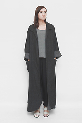Hillary B - Vintage Duster Jacket - Charcoal duster