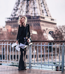 Jana Wind - Guy Laroche Top, Sophie Hulme Bag - Tour Eiffel