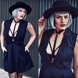 Kayla McC - Tobi Prim And Proper Skater Dress, Agashi Jane Harness - Caged