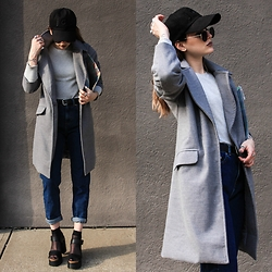 Wawa Baby - Light In The Box Coat, Choies Clutch - Grey Daze
