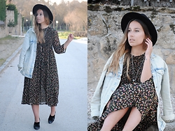 Claudia Villanueva - H&M Hat, Zara Jacket, Zara Dress, Zara Shoes - In Trend: Flawy Midi Dress