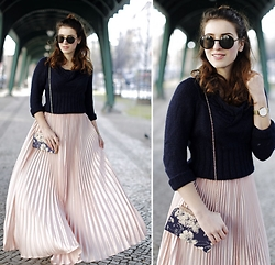 Samieze -  - Pleated Maxi Skirt