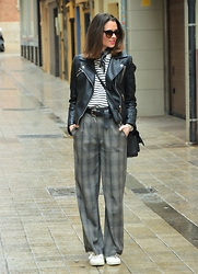 Rebeca LookForTime - Suiteblanco Pants, Zara Jacket - MIX OF PRINTS