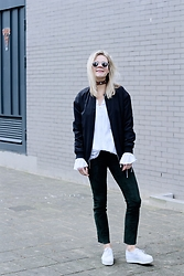 Jint B. - H&M Pants - Green suede pants