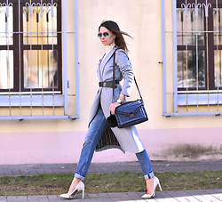 Perventina Ols - Maison Scotch Coat, Zara Jeans, Loeffler Randall Bag - Once upon an March