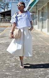 Monica Awe-Etuk -  - AWED BY MONICA: IN BLUE AND WHITE STRIPES