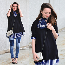 Carissa G. - Coach Bag, Zara Top, Forever21 Denim, Bakers Heels, Tracy Richards Top - Patches & Stripes