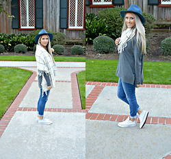 Jennifer Therese - Goorin Bros Maise Lock Fedora, Converse All Star Madison, Old Navy Plaid Blanket Scarf, American Eagle Outfitters Denim Jeggins - C | B.