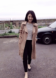 Sherry Lu - Windbreaker, Casual Pants, Flats - Casual style