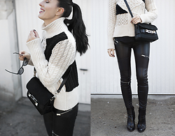 The Day Dreamings - Proenza Schouler Bag, Zara Booties, Zara Sweater, Zara Leather Pants - Waiting for a spring with new Proenza