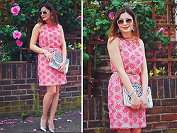 Elena Sandor - Great Plains Dress, Dune Heels, Asos Clutch, Topshop Earring, Accessorize Bracelet, Pierre Cardin Sunglasses - Bliss in pink