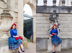 Roberta D. - Joanna Violet Hat, Beyond Retro 1930´S Bag, Beyond Retro 1950´S Skirt, New Look Velvet Heels - White Winter Hymnal