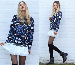 Eva Velt - Jaded London, Skirt, Socks, Boots - Mirrored
