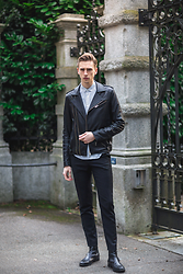 Oliver Lips - Iro Leather Jacket, H&M Trousers - Biker Chic